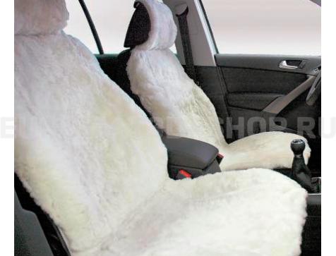 Накидка на сиденья автомобиля из искусственного меха Euromat|Tex (белая) № EUSH-004003